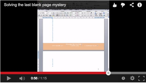 Solving the Blank Page Mystery