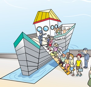 Ferry illustration of newsletter