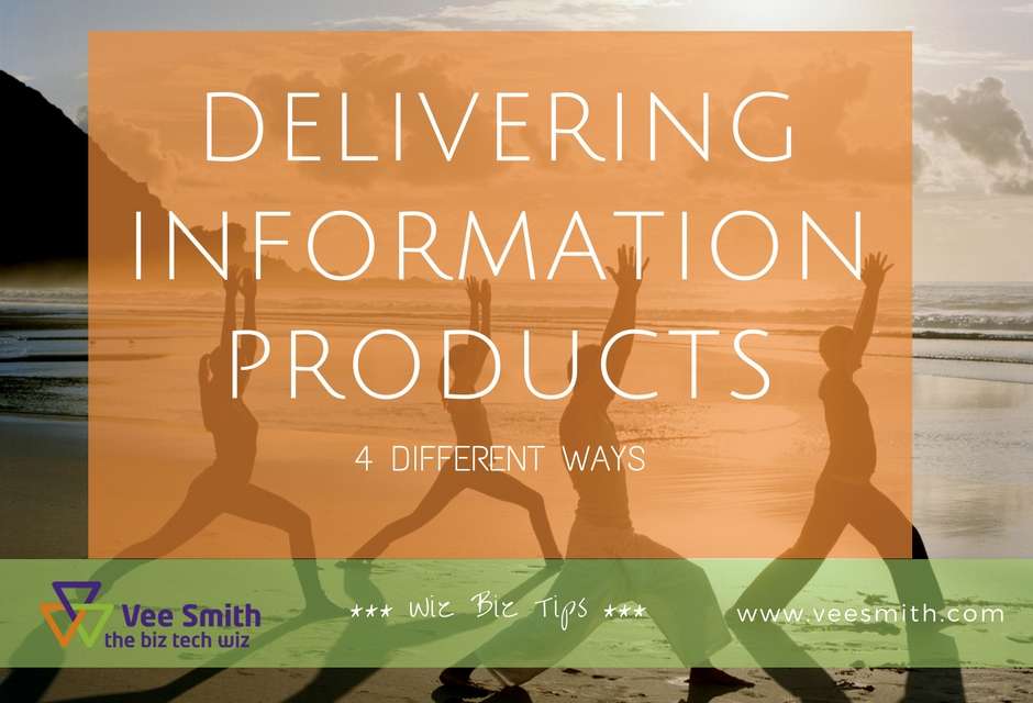 Four different ways to deliver information products