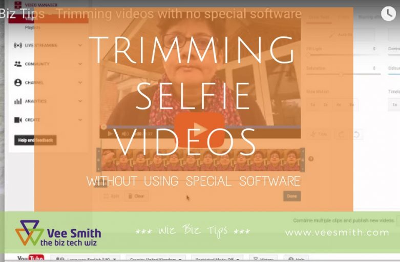 Trimming selfie videos