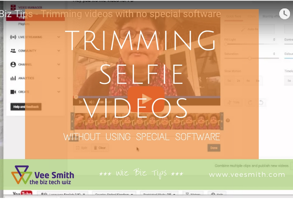 Trimming Selfie Videos (without using special software)