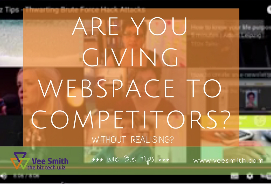 are you giving away webspace to your competitors