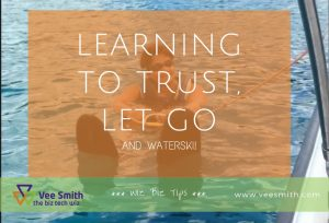 Learning to trust let go and waterski