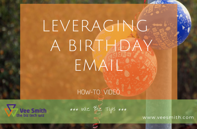 leveraging birthday emails