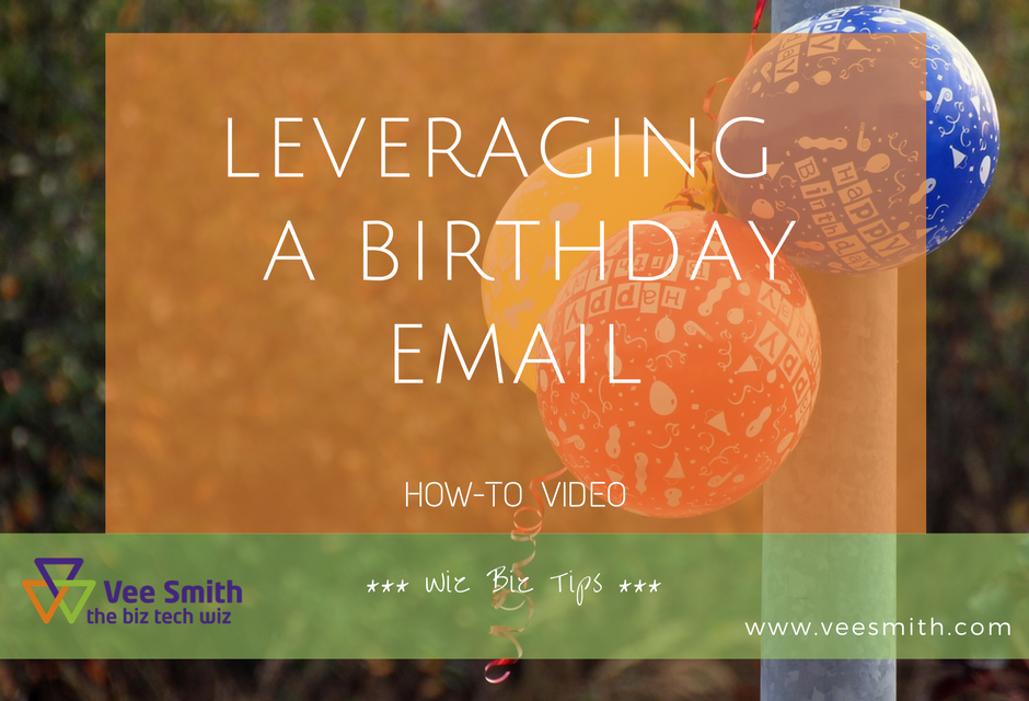 How to use the Birthday Email