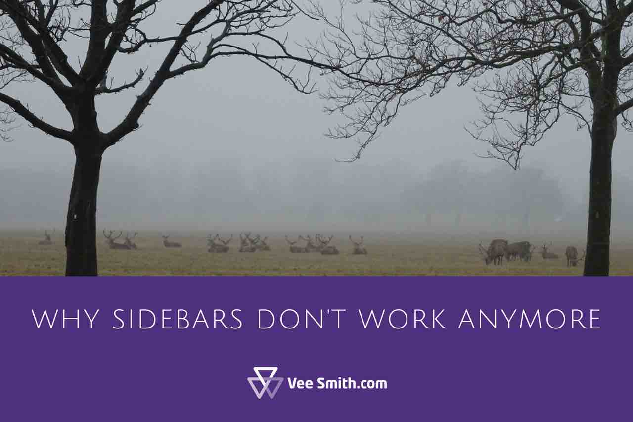Why sidebars don't work anymore
