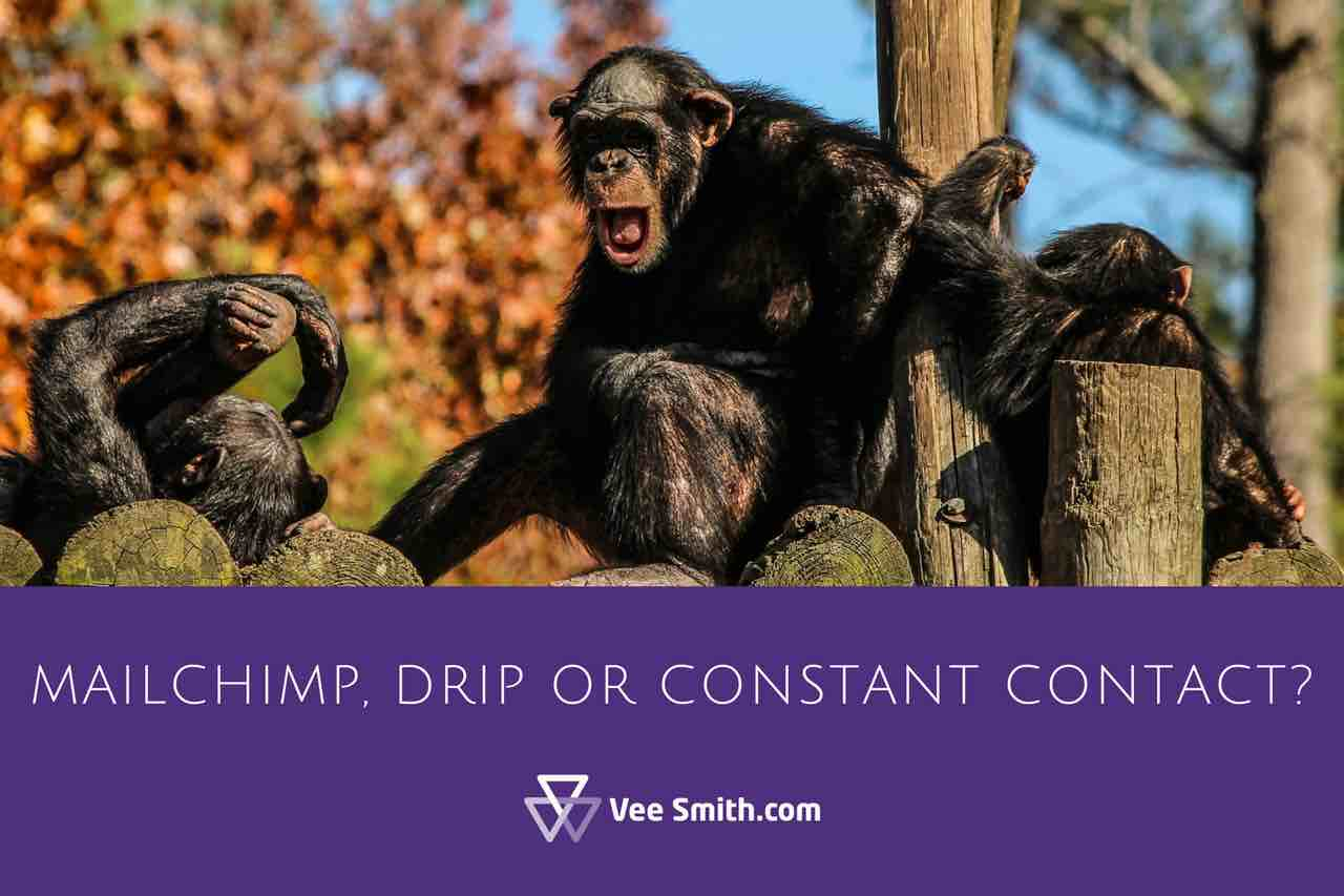 Mailchimp, drip or Constant Contact