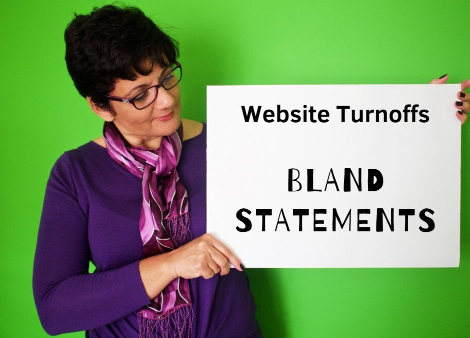 Website Mistakes | 03 | Making Bland Statements