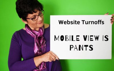 Website Mistakes and Turn Offs   05   Mobile view doesn't look good