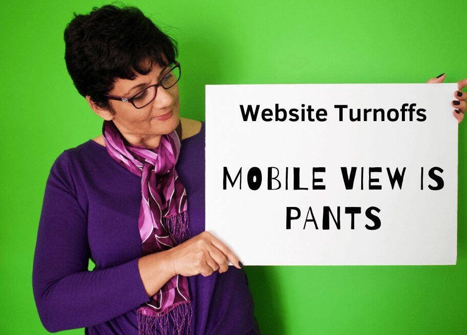 Website Mistakes and Turn Offs | 05 | Mobile view doesn't look good