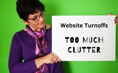 Website Mistakes and Turn Offs   01   Too Much Clutter