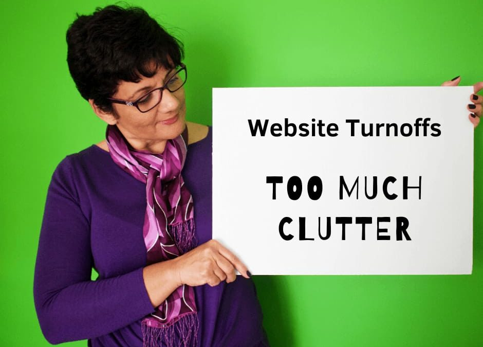Website Mistakes and turn offs _ 01 _ Too Much Clutter