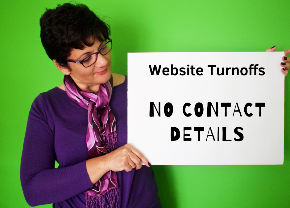 Website Mistakes and Turn Offs | 07 | No Contact Details